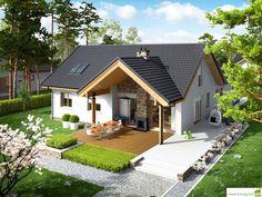 Projekt domu AC Simon (mały) CE - DOM - gotowy koszt budowy Design Your Life, Small House Design, Cute House, Tiny House, Archi Design, Village Houses, Home Fashion, My Dream Home, Sweet Home