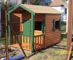 Build a log cabin Playhouse for under $300 - tutorial