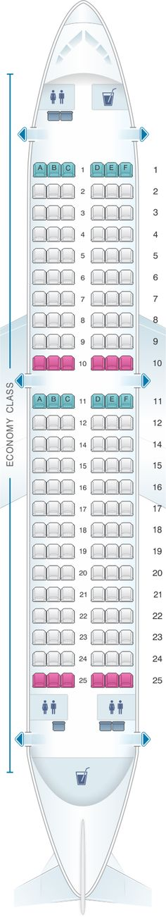 Seat Map Kingfisher Airlines Airbus A319 100