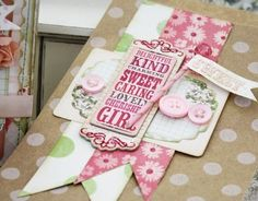 Another example of using a tag pad sheet for a background on  a card. Lilybean Paperie...