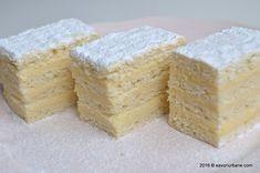 Prajitura Alba ca zapada reteta clasica Savori Urbane (1) Cake Cookies, Cornbread, Vanilla Cake, Creme, Food And Drink, Cooking Recipes, Sweets, Ethnic Recipes, Desserts