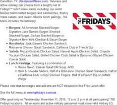 photo about Fridays Printable Coupons identify Tgif discount codes 20 off : Lax worldwide