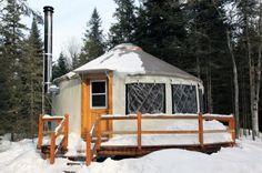 mountain yurt- glamping! haha