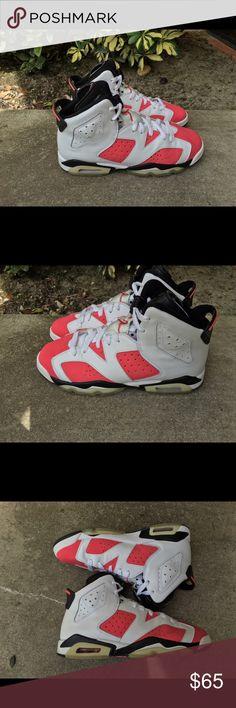 """Nike Air Jordan 6 Retro """"Coral"""" GRADESCHOOL Jordan Shoes Sneakers"""