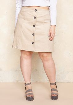 A-Line Button Up Skirt