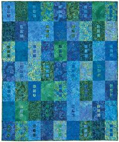 the colors make this quilt - kit available from Keepsake Quilting.