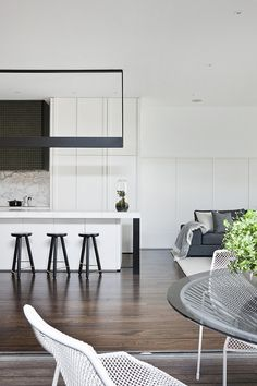 Kitchens | Meta Interiors, stunning combo with floors, marble and use of white