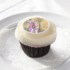 Zombie edible frosted cupcake rounds - Halloween happyhalloween festival party holiday
