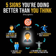 5 Signs You're Doing Better Than You Think Self Motivation, Business Motivation, Positive Quotes, Motivational Quotes, Inspirational Quotes, Success Quotes, Life Quotes, Leadership, Startup