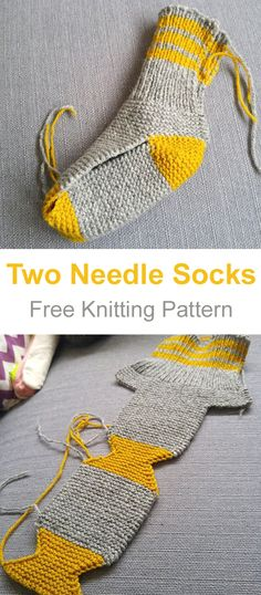 Free Knitting Pattern Sie Babysocken Two Needle Socks - Free Knitting Pattern You are in the right place about Knitting Techniques granny squares Here we offer you the most beautiful pictures Diy Finger Knitting, Knitting Socks, Free Knitting, Knitting Needles, Intarsia Knitting, Vintage Knitting, Baby Knitting Patterns, Crochet Patterns, Two Needle Socks