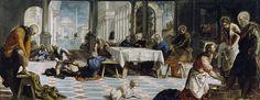 Obra: El lavatorio Autor: Tintoretto Fecha: 1548-1549 Técnica: Óleo sobre lienzo Estilo: Manierismo Tamaño: 210 cm × 533 cm Localización: Museo del Prado, Madrid,   España