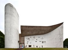 """Le Corbusier - Notre Dame du Haut, Ronchamp NOTE: Later works. Use with Story of Architecture """"Brave New World - e Corbusier"""" pp. 183"""