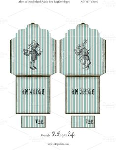 Check out Alice in Wonderland Tea Bags by Le Paper Cafe on Creative Market
