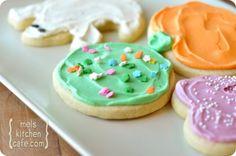 My Favorite Sugar Cookies and frosting