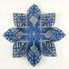 Lg Woodland Woven Star Ornament Snowflakes Cherokee by Baskauta27 You say blue must be my favorite color? Why would you say that? Hmmmm..........basket weaving!