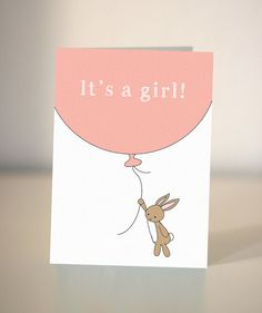 It's a girl - card for a new baby