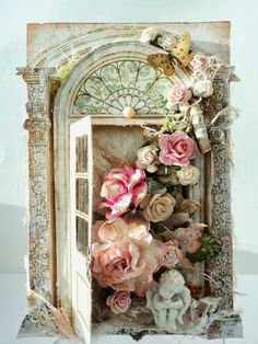 Shabby rose card