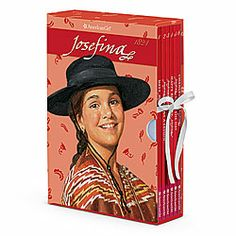 This keepsake boxed set features all six of Josefina's beautifully illustrated books filled with her inspiring stories about growing up in 1824. The box opens up to reveal a fun-filled Josefina's Favorite Things board game! Girls will have fun earning points as they move around the board collecting cards. Board game and pieces tuck into a storage pouch that folds-up with an elegant ribbon closure. Includes Meet Josefina; Josefina Learns a Lesson; Josefina's Surprise; Happy Birthday…