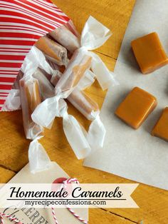 You will not find a better caramel recipe than this one! The caramel is so soft and bursting with flavor. They make the perfect neighbor gifts. You can find more mouth watering recipes @ http://myrecipeconfessions.com/