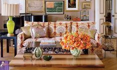 How to Use Bohemian Style in Your Home Decor: Bohemian living room from Elle Decor Bohemian Style Home, Bohemian Interior, Home Interior, Style At Home, Bohemian Living, Boho Chic, Shabby Chic, Bohemian Homes, Modern Interior