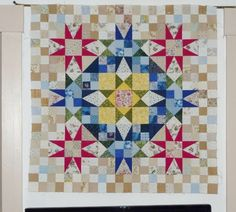 Wall hanging top variation from Bonnie Hunter's En Provence Mystery Quilt