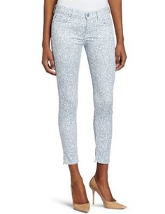7 For All Mankind Women's Victorian Lace Crop Skinny Jean in Light Blue. $189