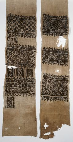 egyptian fabric, mamluk period - This is embroidery, not knitting - but could be used for more pattern inspiration Motifs Textiles, Vintage Textiles, Textile Design, Textile Art, Blackwork, Textures Patterns, Print Patterns, Medieval Embroidery, African Textiles