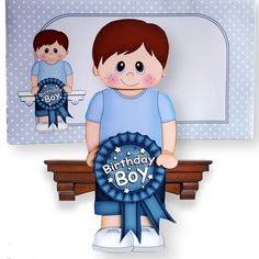 3D On the Shelf Card Kit   Little Boy Craige is the Birthday Boy with ages 6…