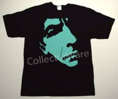 LEONARD COHEN drawing 1 CUSTOM ART UNIQUE T-SHIRT   Each T-shirt is individually hand-painted, a true and unique work of art indeed!  To order this, or design your own custom T-shirt, please contact us at info@collectorware.com, or visit  http://www.collectorware.com/tees-leonard_cohen.htm