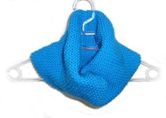 Blue Hand Knitted Cowl by naryaboutique on Etsy, $30.00