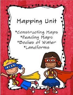 This unit goes over five days. It covers the second grade standard on mapping… Social Studies Projects, Social Studies Activities, Classroom Activities, Water Activities, Classroom Ideas, Student Teaching, Teaching Science, Teaching Ideas, 2nd Grade Geography