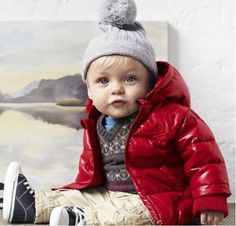 Hot-sale-baby-down-coat-boy-red-hooded