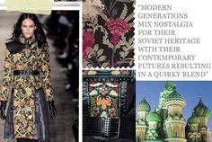 REFLECTIVE - TREND 2 Modern generations mix nostalgia for their Soviet heritage with their contemporary futures, resulting in a blend of quirky folk, Soviet style packaging and a fascination with branded sportswear. Autumn Winter Fashion, Fall Winter, Future Trends, Photo Colour, Fall Fashion Trends, Eclectic Style, Winter Looks, Business Fashion, Color Trends