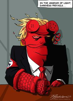 Hellboy  Cartoon by Antonio Rodriguez Garcia , from Mexico City, Mexico