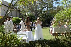 Jono and Katie's wedding ceremony at Lion Gate Lodge, Botanic Gardens, Sydney NSW.