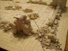 Excellent rubble tutorial, very simple.  For wargaming terrain.