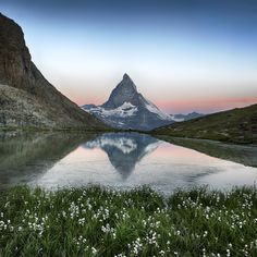 Matterhorn reflection in Riffelsee Lake - Zermatt, Alps, Switzerland