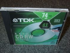 TDK High Speed Data CD-RW (5-Pack) by TDK. $7.95. Package of 5 / Records up to 650MB of Data or up to 74 Minutes of Audio / Designed for use with computer drives / 10x Certified