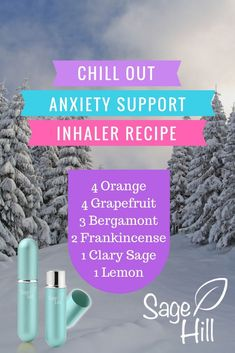 Relax! Chill out! Calm yourself! As hard as it is to lower your anxiety levels, this blend can help you wind down. This essential oil inhaler blend includes orange, grapefruit, bergamot, frankincense, clary sage, and lemon. Shop Sage Hill inhalers now by clicking on this pin!
