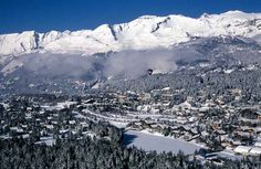 Crans and Montana are located at an altitude of 1500 m on a sunny plateau, above the Rhone Valley. Snow Resorts, Best Ski Resorts, Hotels And Resorts, Montana, Cool Places To Visit, Places To Go, Places Around The World, Around The Worlds, Sierra Nevada
