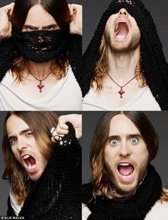 Jared Leto - The 41-year-old showed off his acting skills by pulling funny faces for the camera