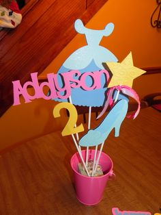 Cinderella Birthday Party Centerpiece - Cinderella Centerpiece. $22.00, via Etsy. - would be cute in sesame street theme