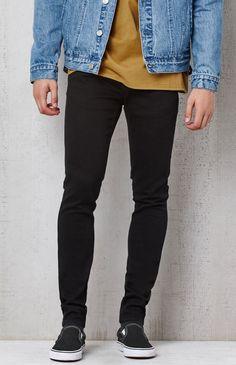 Pacsun men's skinniest black jeans