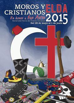 Cartel Moros y Cristianos Elda año 2015