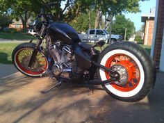 honda shadow dark orange bobber - Google Search