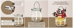 Cas 1: Fabriquez un photophore à suspendre à partir d'un pot de yaourt en verre