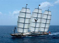 Luxury sailing yacht 'Maltese Falcon' is massive 88 meter mega yacht built by the Italian Perini Navi Yachts. @PerniNavi #BestofYachting Selection