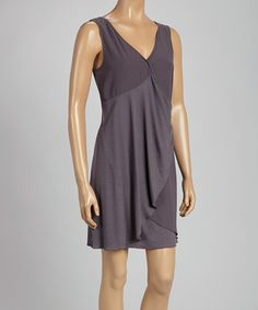 Look what I found on #zulily! Charcoal Ruffle Wrap Dress by MONORENO by Mür #zulilyfinds