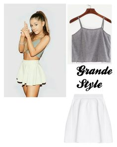 A fashion look from January 2017 featuring grey tank and slimming skirts. Browse and shop related looks. Ariana Grande Outfits, Fashion Looks, Skirts, Polyvore, Shopping, Style, Swag, Skirt