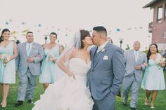 Stunning rustic-chic Long Beach Museum wedding, with a swirling Maggie Sottero wedding dress.